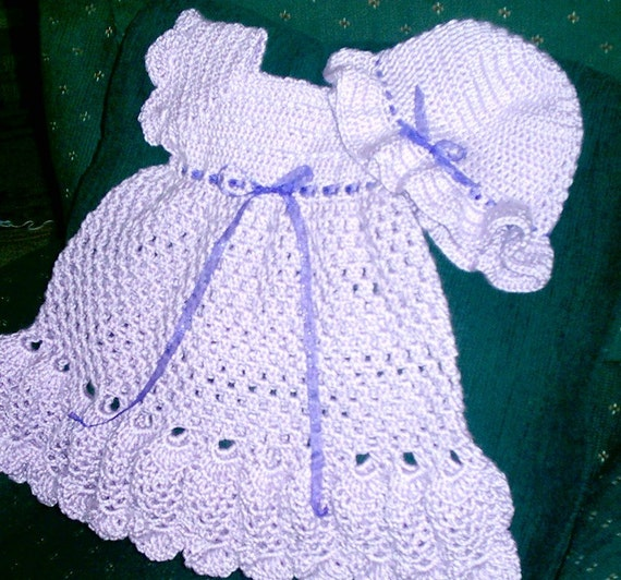 Girl's Lilac Pinafore Dress with hat
