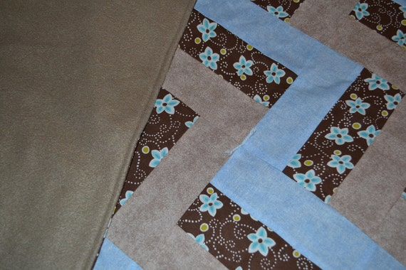 RESERVED FOR CINTIA (3 0f 5) - Brown and Blue Rail Quilt