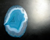 Teal Agate Druse Slice Pendant by Wishmeaway on Etsy