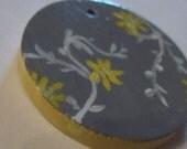 Handpainted wooden pendant