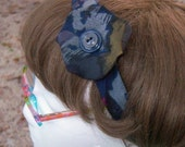 Blues and Grays Necktie Headband