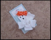 Halloween Hair Clip Boutique Ghoully Girl Ghost Clippie NO SLIP Bubbipop EXCLUSIVE Only found here