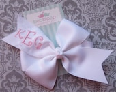 YOU PICK Colors and Letters No Slip Boutique Large Pinwheel Monogram Hair Bow