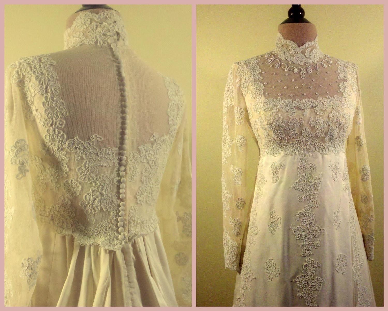 1960s vintage priscilla of boston antique ivory wedding gown for Priscilla of boston wedding dresses