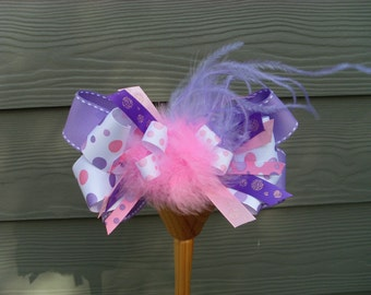 Dare To Diva BOWS...custom super sized hairbows, coordianates with tutus, pink paris poodle