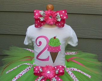 Custom Tutus...DOUBLE DIP DELIGHT , tutu set, size 3,6,9,12,18,24 months and 2T,3T,4T,5T,6T years,costume, birthday