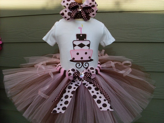 Custom Tutus... CHOCOLATE PINKY..sizes 3,6,9,12,18,24 months and 2T,3T,4T,5T,6T years, birthday party,cake tutu..first birthday