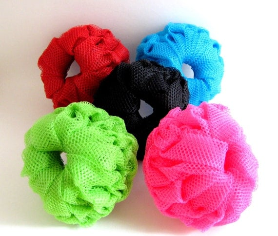 Crocheted Dish Scrubbers, 5 Pack Assorted Colors