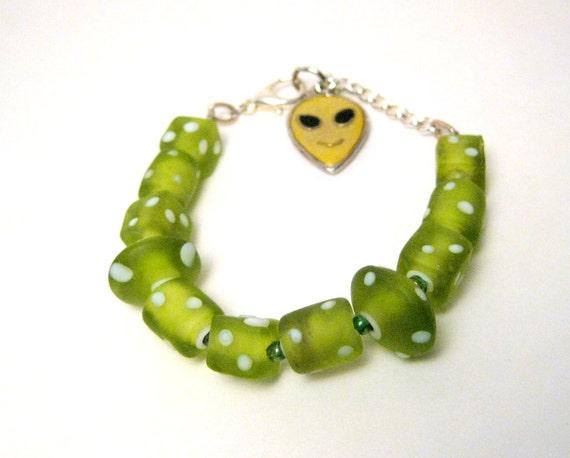 RESERVED FOR SOFIA  Green Martian Bracelet