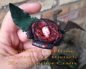 Handmade Skull Roses of leather for you or your sweetie