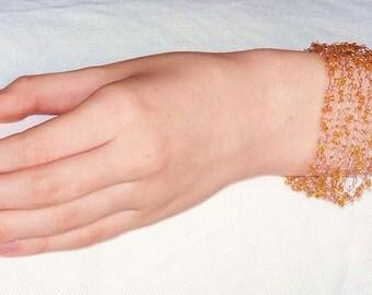 Beaded Bracelet - copper