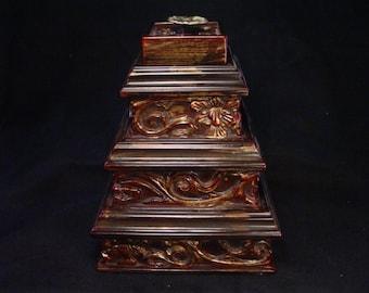 Handmade 3 Layer Ornate Jewelry Box