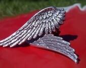 Angel Wing Earrings - Silver Clip On