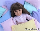 American Girl Doll Pillow - Custom Color One Pastel Doll Pillow for 18 inch doll bedding or doll bed