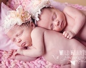 TWO Baby Pillows - Twin Photo Props Custom Color TWO Pastel Infant Prop Pillows