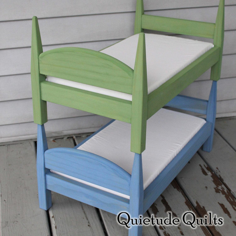 Painted American Girl Doll Bunk Beds Custom Colors Organic