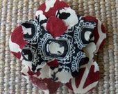 SALE Shabby Fabric Magnet with Butterfly, and Face