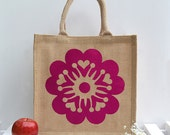 Sakura Jute Shopping Bag - All Proceeds donated to Japanese Tsunami 2011 Victims