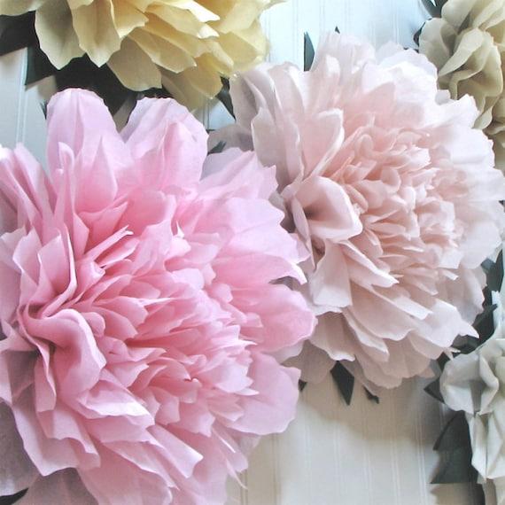 Giant Paper Flowers Wedding: LUCKY PEONY. 5 Giant Tissue Paper Flowers Wedding By Whimsypie