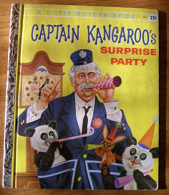 captain kangaroo 39 s surprise party 1958 a little golden. Black Bedroom Furniture Sets. Home Design Ideas