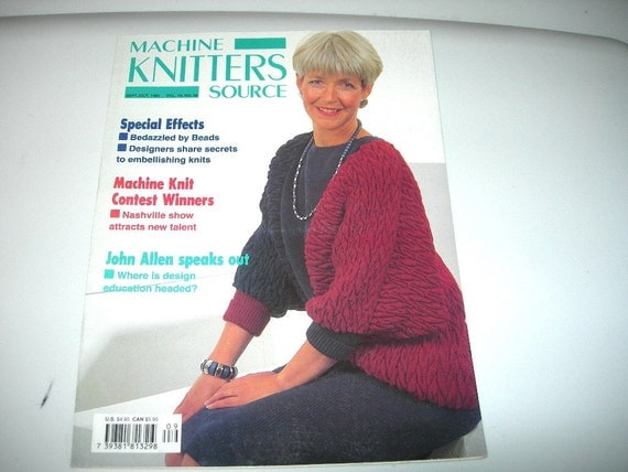 Machine Knitters Source Magazine September October 1993