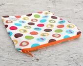 Snack & Sandwich Bag - Retro Fruit Dots in Orange