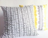 Throw Pillow Cover - Small Scandinavian Stones in Gray on White