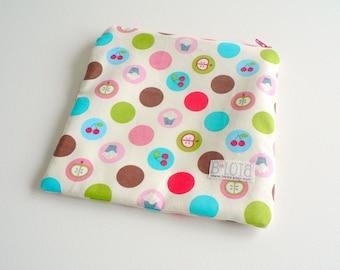 Snack & Sandwich Bag - Retro Fruit Dots in Pink