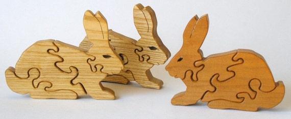Wooden Child Puzzle - Mini bunnies