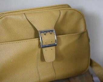 vintage mustard royal traveller carry on bag