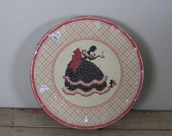 vintage sillouette tin