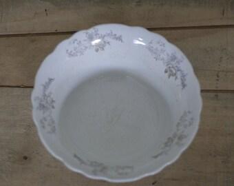 vintage white homer laughlin hudson serving bowl