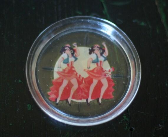 Vintage Pinup Coaster Cha Cha Cha