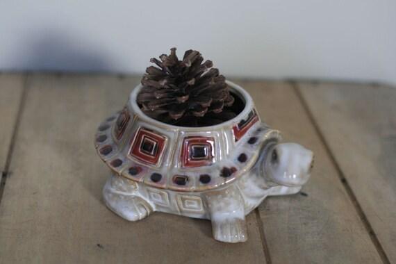 vintage turtle planter