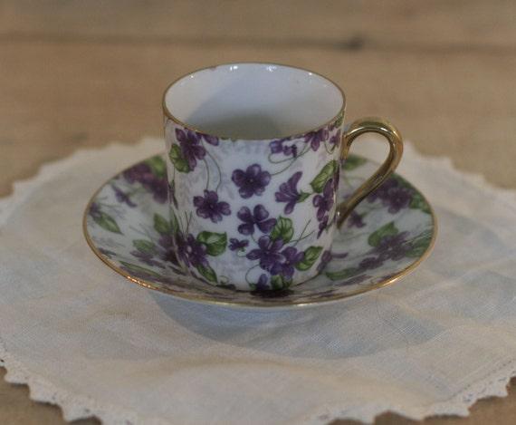 vintage chintz demitasse cup