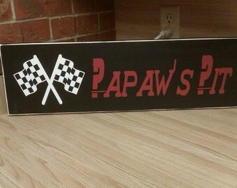 Man Cave, Pepaw's Pit Personalized wood Sign