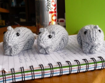 Knitted Gerbil 27 Dove (Light Grey)