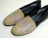 Soft leather slip on shoes - Size 6.5 - 80s - Made in Italy - New and never worn