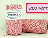 NEW Peppermint Holiday Divine Twine 75  yards - Perfect for Valentines Day or Christmas all your Christmas Packaging and  Projects