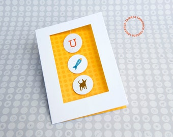 You Rock It Dawg Rebus Congratulations Card