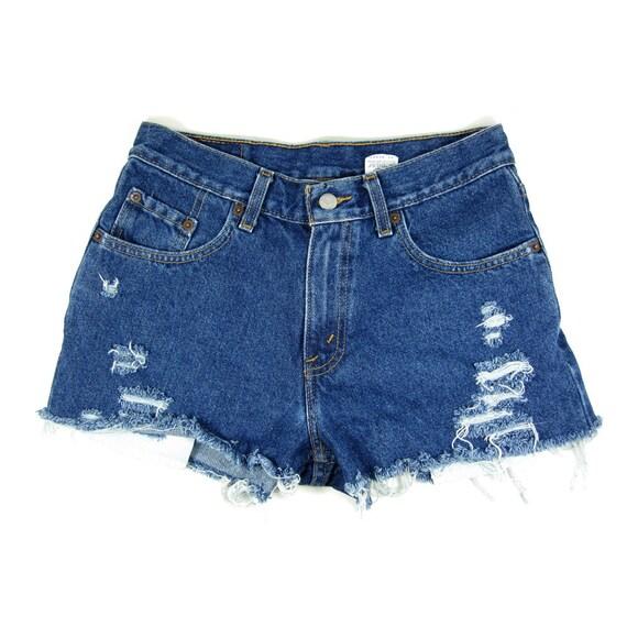 CUSTOM STUDDED / 28W Vintage Levis Shorts