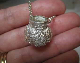 Anasazi Vessel Fine Silver Pendant