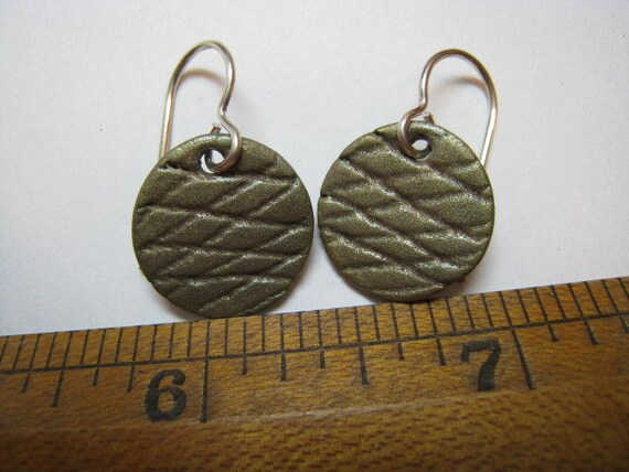 Gaming Piece Patinaed Bronze Earrings