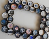 New York Yankees Bottle Cap Baseball Frame