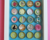 Cat Lover Bottle Cap Shadow Box Picture Frame