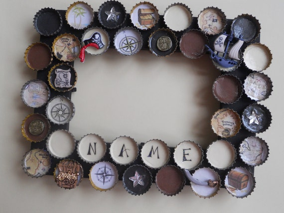 Pirates Bottle Cap Customized Picture Frame