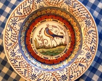 Absolutely gorgeous deep dish Ceramic Maiolica Plate\/Platter