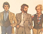 Men's Vintage Western Jacket, Vest & Pant Pattern: Butterick 6750, Chest 42