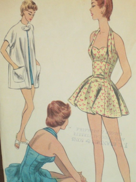1950's Bathing Suit and Beach Coat: McCall's 3164