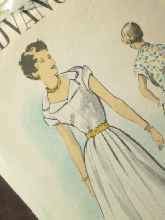 A Barbara Stanwyck Dress designed by Edith Head Vintage Dress Pattern: Advance 5469
